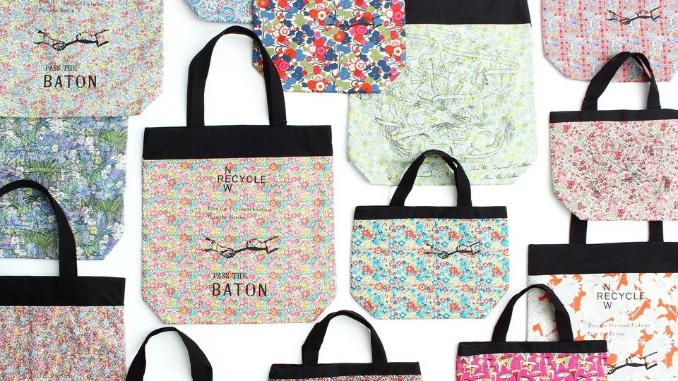 LIBERTY×PASS THE BATON『Remake tote bag』